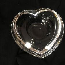 """ORREFORS SWEDEN AMOUR SIGNED CRYSTAL HEART VOTIVE CANDLE HOLDER 4"""""""
