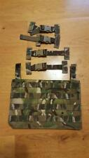 Genuine British Army Osprey MK4A MTP Molle Ops Panel & 4 T Bar Clips