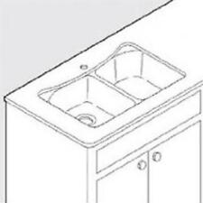 Moen Undermount Service Kit for 25200 Sink with Template, Clips 100509B New