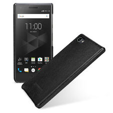 fit for BlackBerry Motion Genuine Leather Back Cover Snap Hard Shell Case Black