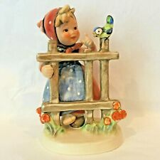 New ListingGoebel Hummel #203 Signs of Spring Tmk4 Girl At Fence With Bird Figurine