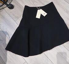 H&M Studio Black Skirt Wool Blend 10 Asymmetrical