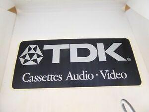 AUTOCOLLANT / STICKER - VINTAGE - TDK - CASSETTES - K7- AUDIO - VIDEO - TOP !