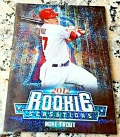MIKE TROUT Topps CHROME 2012 Rookie Sensations HOT Los Angeles Angels ROY MVP $