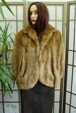 Mint Plain Canadian Muskrat Fur Cape Wrapjacket Women Woman Size Small Medium