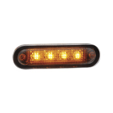 NARVA 10-30 VOLT L.E.D FRONT END OUTLINE MARKER LAMP (AMBER) WITH 0.5M CABLE : 9