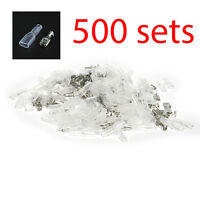 500pcs Female 4.8mm Spade Connector Insulated Crimp Terminals Electrical Wire