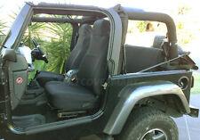 Jeep Wrangler 2003-2006 Custom Neoprene Front & Rear Car Seat Cover BLACK FS200
