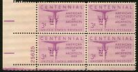 #1089 3c American Architects, Plate Blk [25625 LL], Mint **ANY 4=FREE SHIPPING**