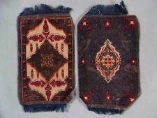 TWO LARGE FRINGED DOLLHOUSE RUG CIGARETTE FLANNELS/FELTS -- Circa 1910