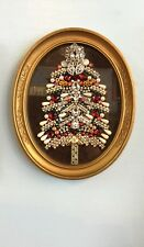 Colorful Bejeweled Christmas Tree Art Piece Crafted By Carole Dooley Long