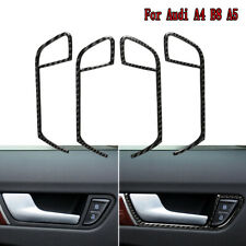 4x For Audi A4 2009-2016 & A5 2008-2017 Carbon Fiber Door Handle Trim Decoration