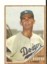 1962 Topps  #5 Sandy Koufax LA Dodgers EX-MT+ Almost Centered L - R Sharp Card