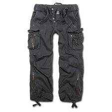 Brandit hombre Pantalón cargo Royal pantalones Vintage negro (2) L