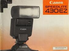 Canon Speedlite 430 EZ Gebrauchsanweisung manual mode d'emploi - (14559)
