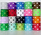 "38mm(1.5"") Mixed Colors Polka Dots Grosgrain Ribbon Craft Sewing 1 Yard/5 Yards"