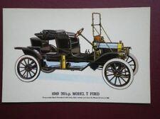 POSTCARD CAR 1910 20HP MODEL T FORD CAR