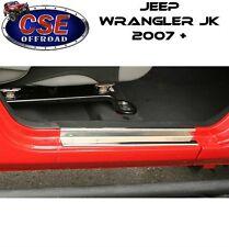Jeep Wrangler JK Stainless Steel Entry Guards 07-17 2 Door 11119.04 Rugged Ridge