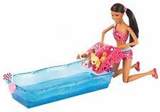 Barbie Swim & Race Pupps AA Doll 2 Puppies 2012 X8405 NEW