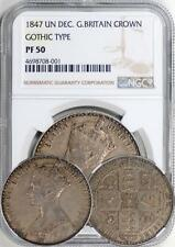 Great Britain 1847 Victoria Gothic Proof Crown NGC PF-50 (Undergraded)