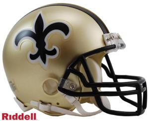 New Orleans Saints Throwback 1976-1999 76-99 VSR4 Riddell Mini Helmet New in box