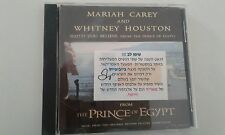 MARIAH CAREY / WHITNEY HOUSTON when you believe 1TR U.S  PROMO CD  israeli