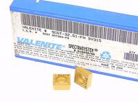 NEW SURPLUS 8PCS. VALENITE  SCGT 32.51-FH  GRADE: SV315  CARBIDE INSERTS