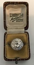 Estate Antique  1.65 CTW Old European Cut Diamond 18K White Gold Engagement Ring