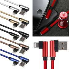 L Style 90 Degree Nylon Charger USB Fast Charging Cable Cord For iPhone 6 7 X 8p