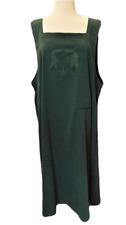 CJ Banks Womens 20W Plus Jumper Stretch Faux Suede Square Neck Trees Green