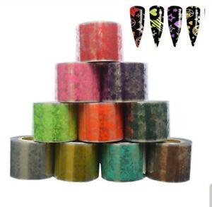 """""""Neon stars"""" - transfer nail art foils set 10 pcs"""