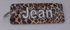Novelty personalised leopard print keyring ideal gift for a birthday