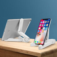 Multi Angle Foldable Cell Phone Desk Stand Holder Mount Cradle For Phone Tablet