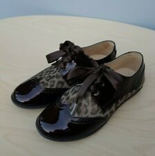 Immaculate ANDANINES Girls Brown Patent Leather Shoes Spanish__EUR 33 / UK 1