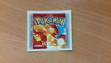 Gameboy Pokemon Red Version Replacement Label Decal Sticker Nintendo Cartridge