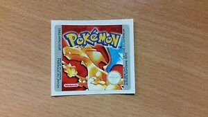 Gameboy Pokemon Red Version Replacement Label Decal Sticker Nintendo Cartridge