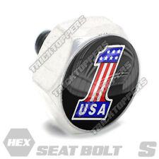 Polished Hex Billet Aluminum Seat To Fender Bolt for Harley USA # NUMBER 1 ONE B