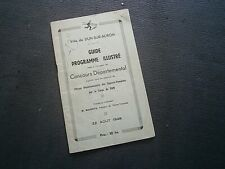 Dun sur Auron: Guide programme concours départemental Sapeur pompier 1948