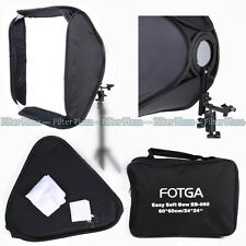 "FOTGA PRO Portable 24"" Softbox For SpeedLight Flash Hotshoe Soft Box Kit 60x60cm"