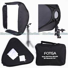 "FOTGA PRO Portable 24"" Softbox For SpeedLight Flash Hotshoe Soft Box Kit 60x60cm"