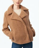 Collection B Jacket Faux Fur Sherpa Teddy Coat Womens Tan Sz XL NEW NWT 908