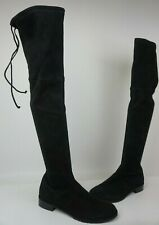 Stuart Weitzman Lowland Over the Knee Suede Boots Black Size 8.5 M