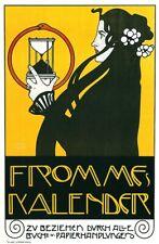 home goods wall decor Fromme's Calendar,1899  art poster