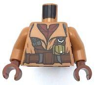 Lego New Medium Dark Flesh Torso Star Wars Naboo Fighter Jacket Dark Red Shirt