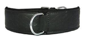 Black Celtic Leather Dog Collar Staffy Staffordshire Bull Terrier Bulldog Big