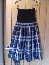 Zara Basic Black White Dress Elasticated Chest Strapless Size M (Ref Z) Ex Con