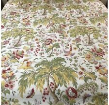 Pottery Barn Multi Bird Floral Palm Trees Full/Queen Duvet Cover palampalore