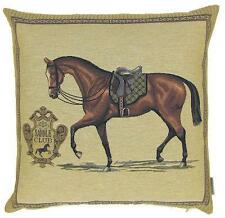 horse cushion cover - horse decor - horse lover gift - tapestry throw pillow