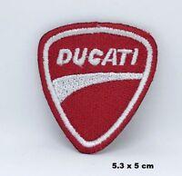 Italia Ducati Corse Rojo Moto Motero Carreras Bordado Plancha Insignia Parche