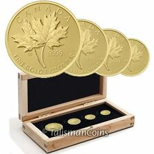 Canada 2013 Pure Gold Maple Leaf 4 Coin GML Fractional Set  -  MINTAGE 600 !!